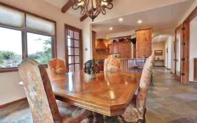 Formal dining flows to kitchen