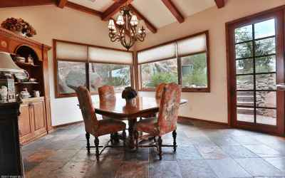 Dining space leads to outdoor patio