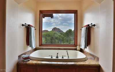 Spa tub with a view