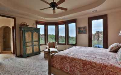 Curved master suite with view