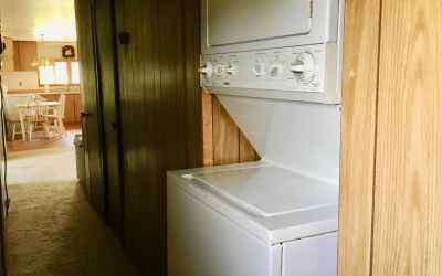 hall looking at washer