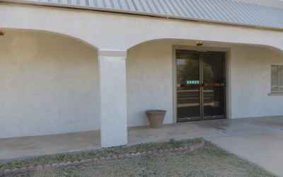 Front entry Comm Bldg.