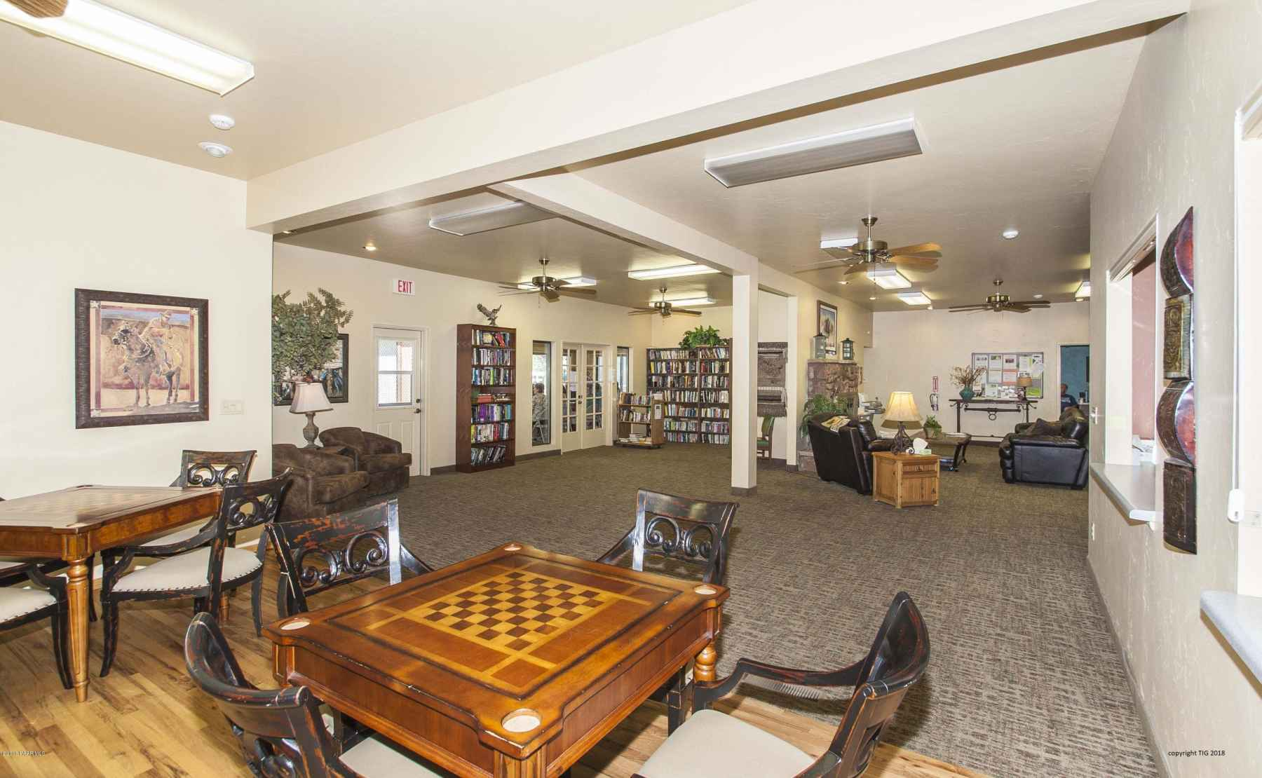 Clubhouse Game Room, lobby, library - co