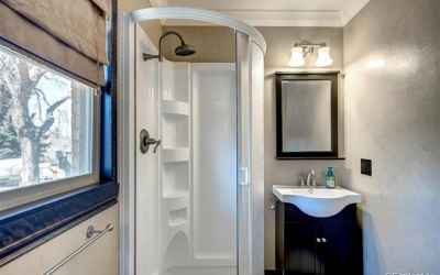master bathroom all new, toilet, sink, lights, tile, shower, etc